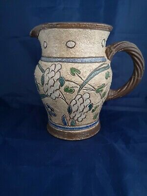 LARGE HONITON POTTERY SGRAFFITO DECORATED VINTAGE Signed To Base J.B. Or J.S.?  • 5£
