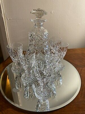 Stuart Crystal Decanter And Glasses • 35£