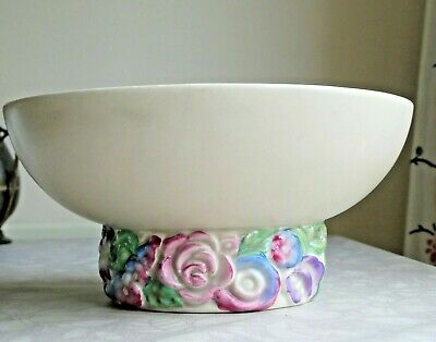 Clarice Cliff My Garden Footed Bowl - Newport Pottery 1930-35 Good Condition • 34.99£