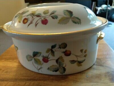 Vintage Royal Worcester Strawberry Fair Oval Casserole Shape 2.4Size 5 Heavy • 2.50£