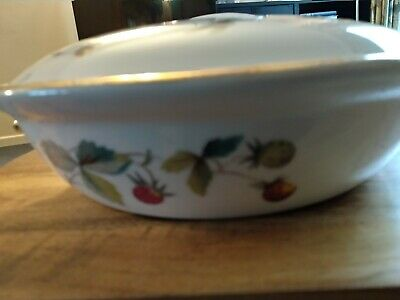 Vintage Royal Worcester Strawberry Fair Round Casserole Shape 2.2 Size 3 Heavy • 2.50£