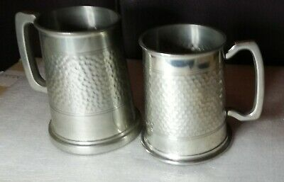 Vintage X2  Tankard  With A Hammered Pewter Effect. • 9.99£