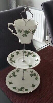 Colclough Ivy Leaf Small 3 Tier Cup/ Saucer Cake Stand WEDDING/AFTERNOON TEA • 5£
