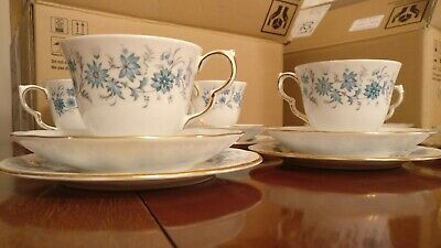Vintage Colclough  BRAGANZA  Bone China Tea Set (Teacups, Saucers & Plates) • 19£