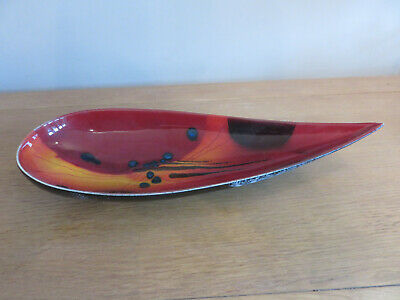 Poole Pottery Long Abstract Bowl By Alan Clarke • 19.99£