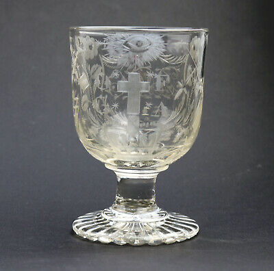 Exceptional & Fine & Rare Antique Regency Engraved Glass Rummer C.1814 • 990£