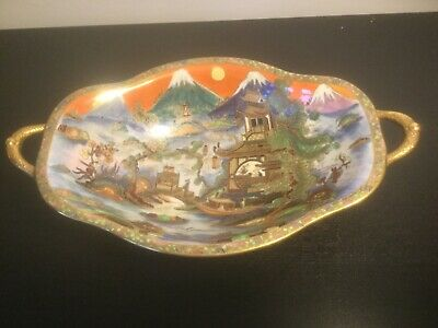 "Superb Carlton Ware Lustre  "" China Land "" Footed  Comport  • 1,000£"