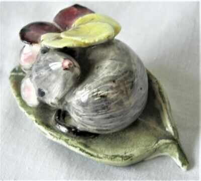 Beswick ~ Kitty Macbride Original Figurine ~ Happy Mouse With A Pansy  • 79.99£