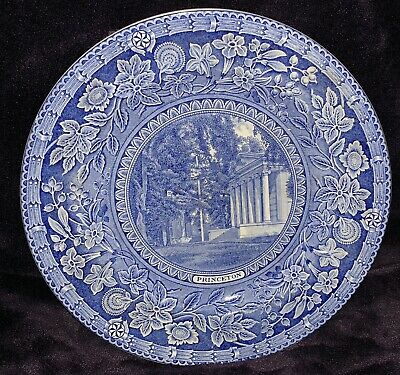Wedgwood Plate Princeton University 1930 Clio And Whig Halls Blue & White • 40£