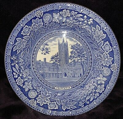 Wedgwood Plate Princeton Holder Court And Tower Blue & White • 40£