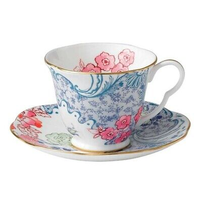 Wedgwood Butterfly Bloom Cup And Saucer Set, Pink/Blue • 35£