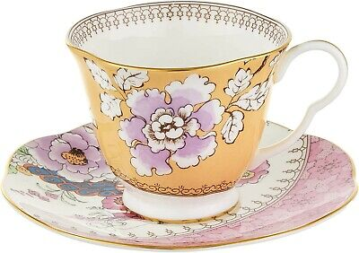 Wedgwood Butterfly Bloom Cup And Saucer Set, Yellow • 35£
