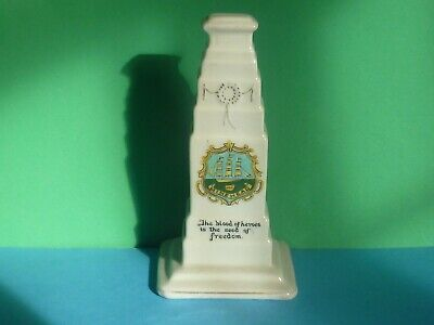 Cyclone Crested China Model Of Cenotaph Whitehall London. Crest Of Minehead • 5£