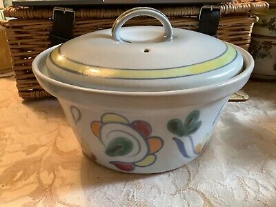 Buchan Stoneware Hand Painted Large Ovenproof Casserole Dish Sutherland Design • 7£