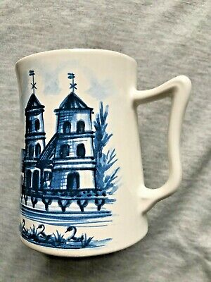 VINTAGE EASTGATE POTTERY WITHERNSEA  MUG 3.75  Tall, Shaped VGC  • 9£