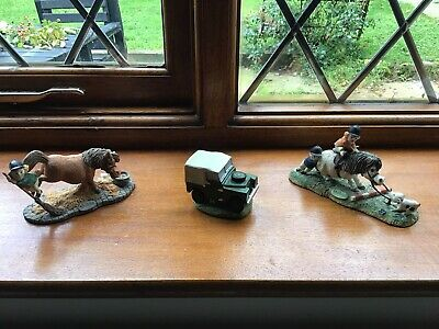 Thelwell Ponies Gray's Thelwell 2 Ponies And A Small Landrover Figurines • 9.99£