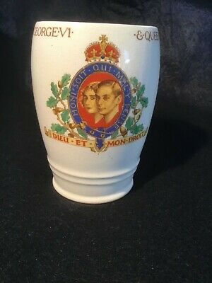 King George V1 Coronation Mug. City Of Plymouth • 2£