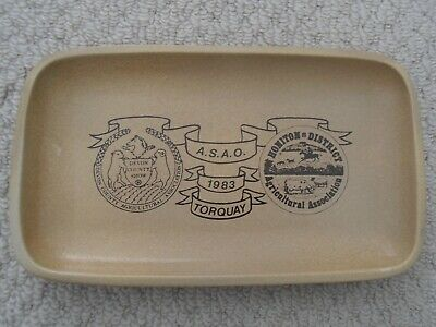 Vintage Honiton Pottery Pin Dish Tray : 1983 ASAO Devon County Agricultural Show • 5.99£