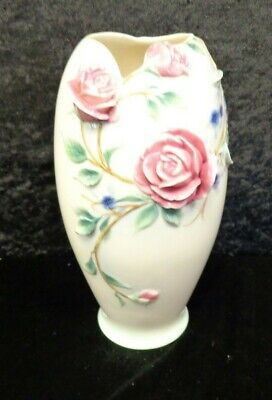 Royal Doulton Franz Vase Exclusive Porcelain 23cm Tall Pink Rose FZ00642 VGC  E2 • 6£