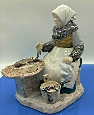 Bing & Grondahl Porcelain Figurine Fish Market Woman #2233 By Lochner C1950s • 91.93£