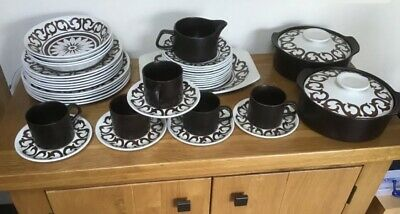 70's Vintage Retro China J & G Meakin Maidstone Plates Bowls Cups Casserole Dish • 10£