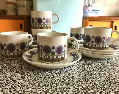 J G Meakin Rondo Coffee Cans And Saucers  • 28£