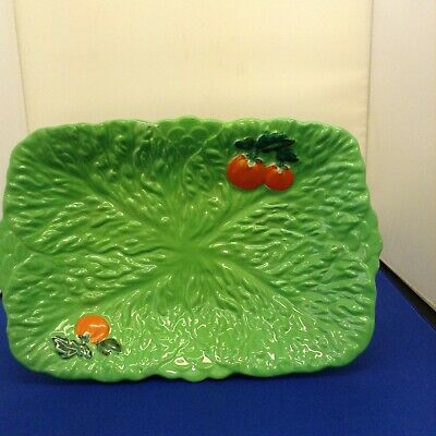 Serving Plate Vintage Ware Design Cabbage And Tomato • 9£