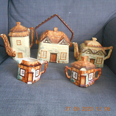 Vintage Keele Street Pottery Tea Set, 5 Items (various Colours) • 13£