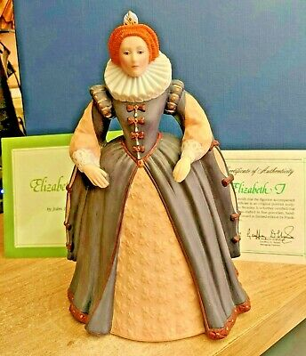 """Elizabeth I"" Franklin Porcelain Figurine-1984 Limited Edition Certificate Authe • 28.88£"