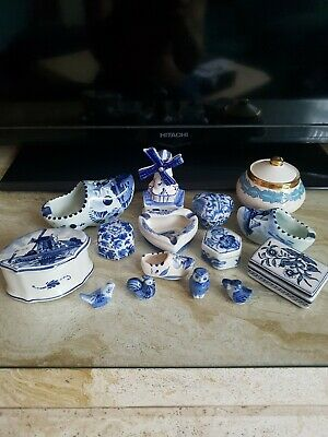 Job Lot Of Blue And White Pottery, Hand Painted, Excellent Condition.  • 19.99£