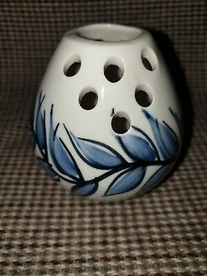 Jersey Pottery  Vase . Blue And White.  • 5£