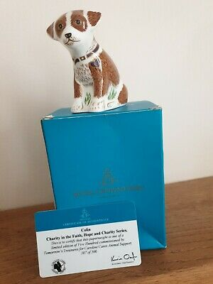 Royal Crown Derby COLIN The PUPPY Paperweight Ltd Ed 500  Boxed  • 30£
