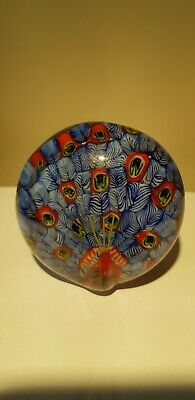 Blue Peacock Glass Paperweight With Raised Neck, Very Attractive • 2.99£