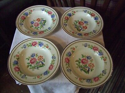 Set 4 Beautifully Patterned Portland Pottery Cobridge Soup/dessert Bowls 1953  • 7.99£