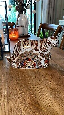 Royal Crown Derby Paperweight - Bengal Tiger - Gold Stopper • 110£