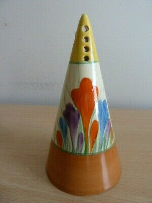 Clarice Cliff Conical Sugar Sifter - Autumn Crocus Pattern • 225£