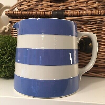 TG Green Blue & White Cornishware Jug. H 11.5cm  • 13.99£