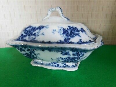A Beautiful Antique / Vintage Blue&White Handled Tureen With Lid Unmarked • 39.99£