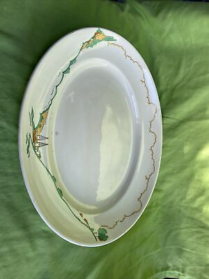 Royal Staffordshire Pottery Large Hand Painted Meat Plate C1910 Cliff Style • 29.99£