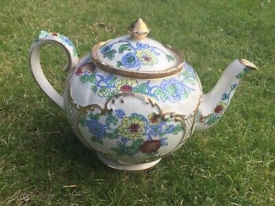 Sadler Round Teapot Floral Design, Pretty Piece, A/f Display Only • 25£
