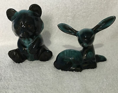 Blue Mountain Pottery Bear And Fawn • 4£
