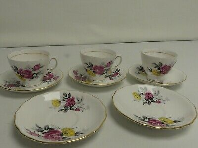 (ref288AU) Royal Vale Fine Bone China Cups And Saucers • 14.99£