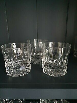 3 Tudor Crystal Frobisher 14oz Double Old Fashioned Whiskey Glasses • 120£