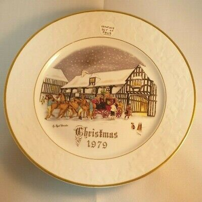 Royal Worcester Christmas Plate 1979 Complete Set Of 4 Unboxed. • 5.60£