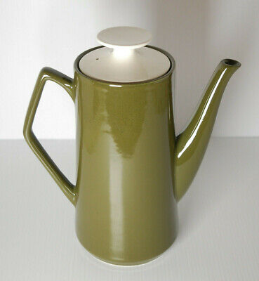 Vintage Olive Green Beswick Tea/Coffee/Water Pots/Jugs, Date Stamp 1958 • 11.96£