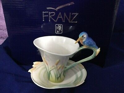 Franz, Iredescence Cup / Saucer , Kingfisher Collection, New - Boxed • 40£