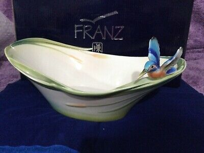 Franz, Iridescence Porcelain Candy Dish, Kingfisher Collection. New / Boxed • 70£
