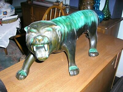 Huge Blue Mountain Pottery Large Tiger/Wild Cat • 25£