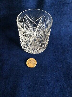 Vintage Tyrone Irish Crystal Whisky Glass Old Fashioned  Stamped Base TY20 • 15£