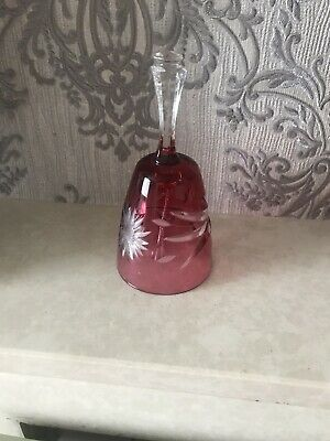 Vintage Ruby Red Glass Bell • 5.60£